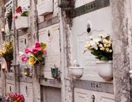 L'espace cinéraire au cimetière