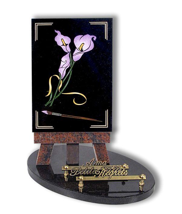 mat riaux pour plaques fun raires d c s. Black Bedroom Furniture Sets. Home Design Ideas